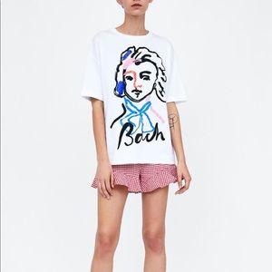 Zara Tops - Zara print tee